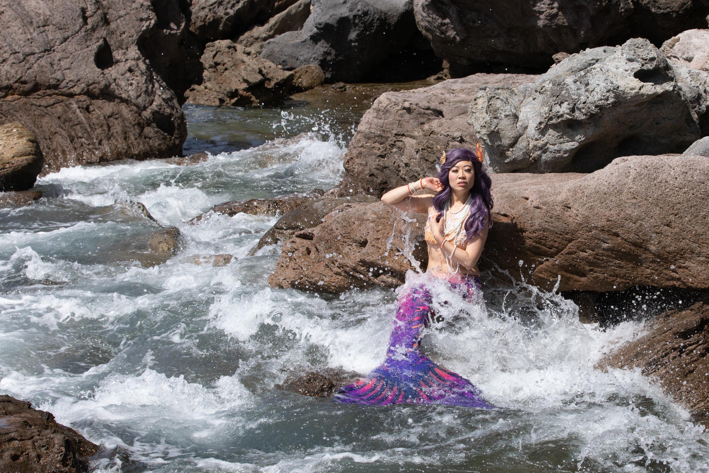 Mermaid in the sea Mount Maunganui