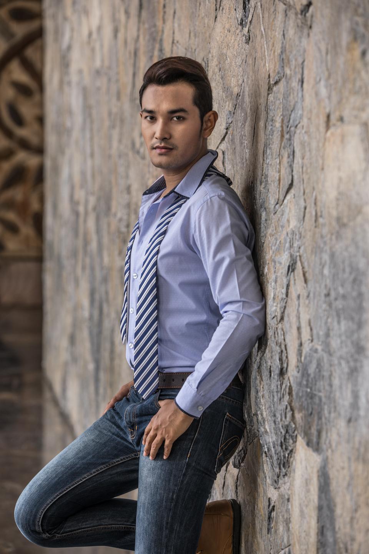 Jeffery is a Thai man in a blue shirt