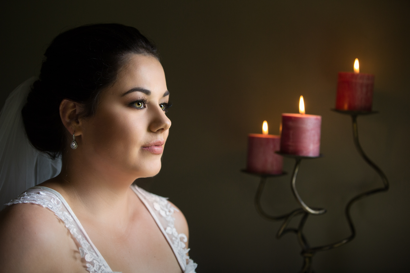Bride by Candle light