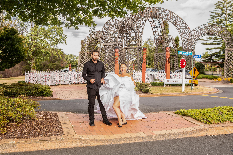 Adding a bit of wedding couple sass Rotorua