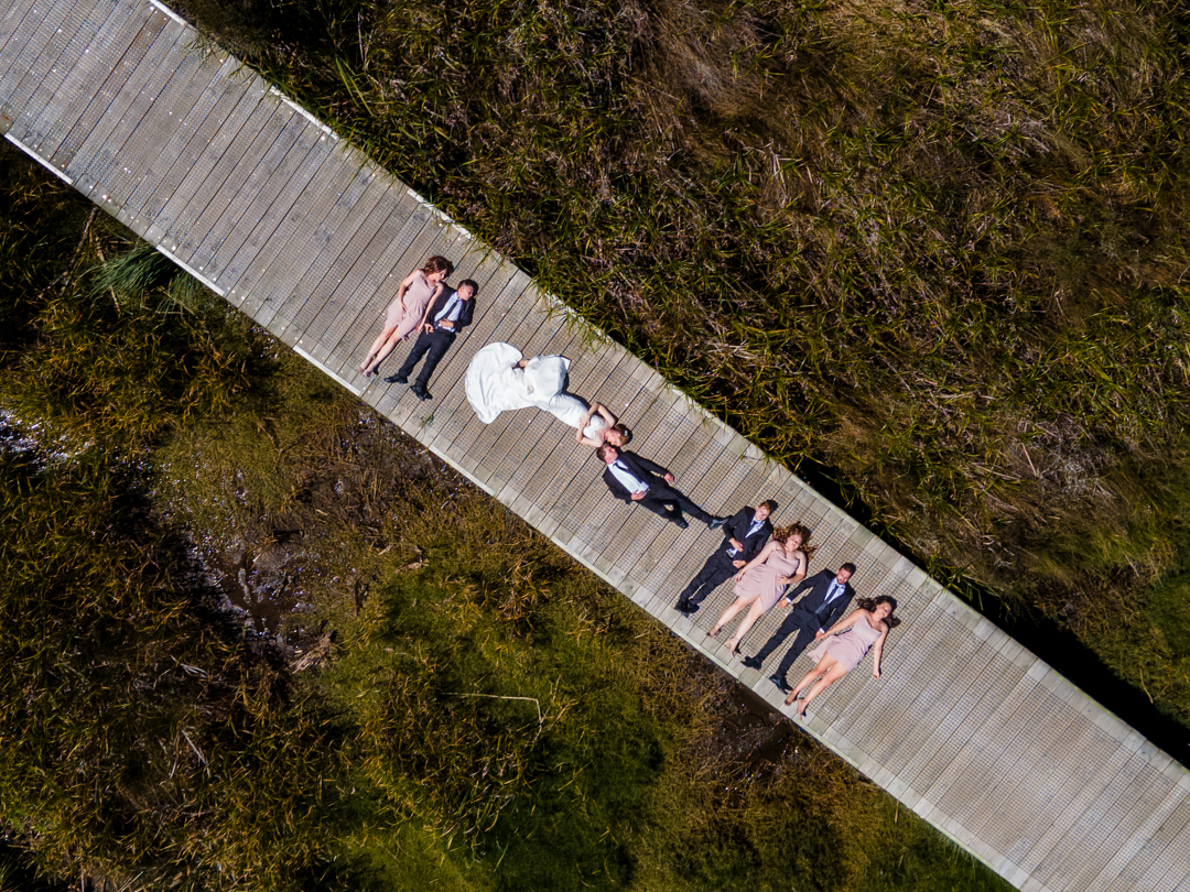 Bridal Party Drone shot