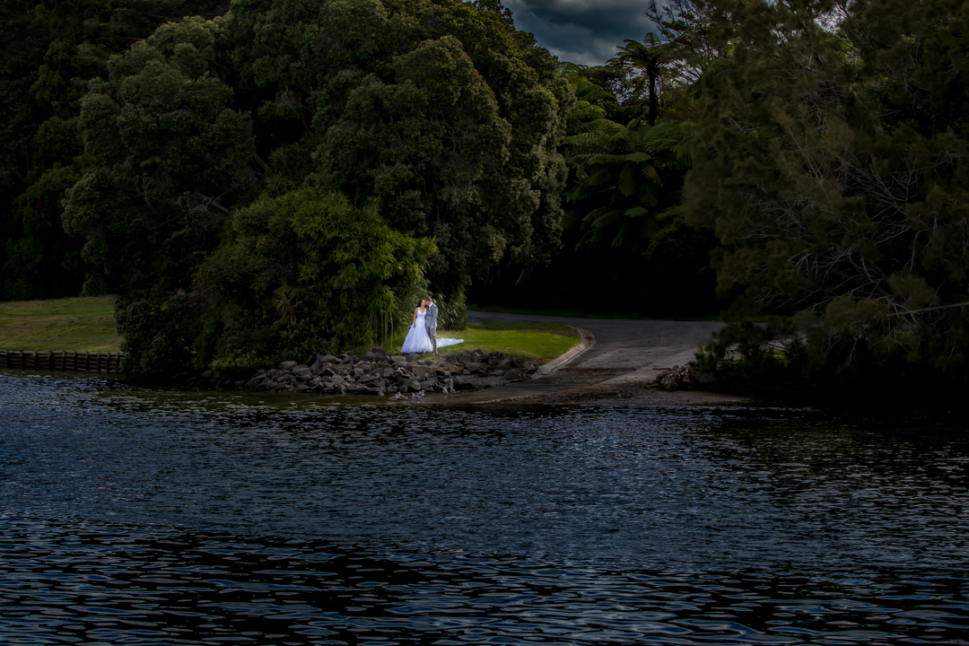 Bride and Groom alone
