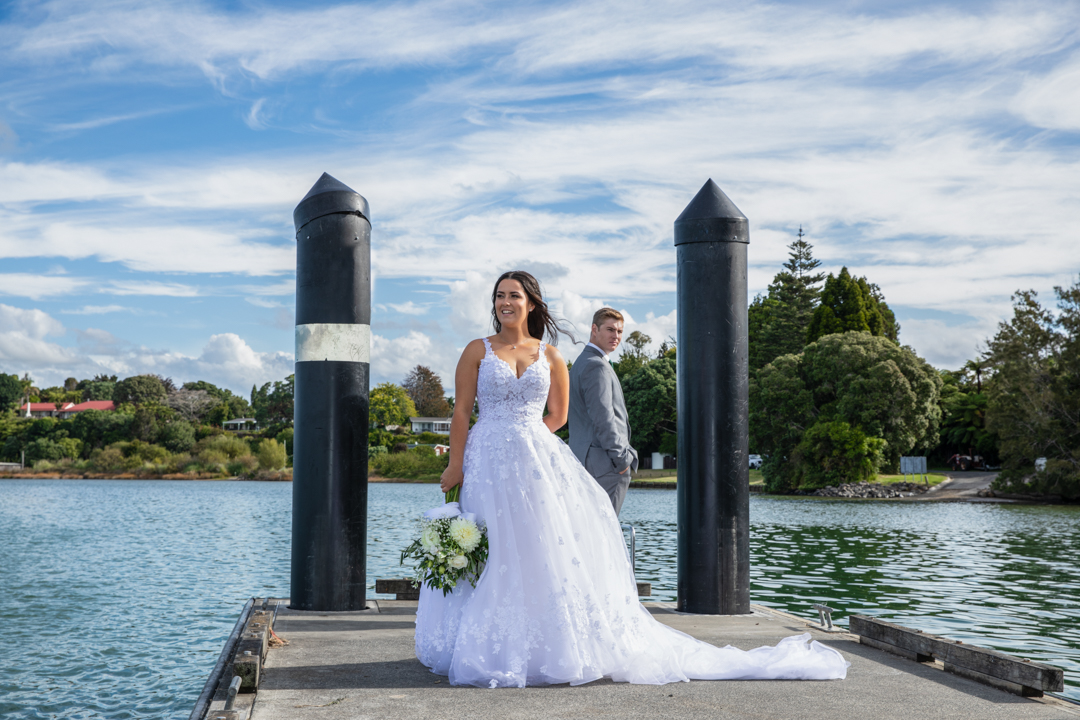 Bride and Groom on the Jetty